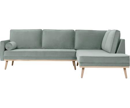 Sofa narożna z aksamitu Saint (3-osobowa)