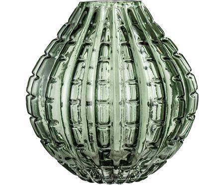 Vaso in vetro verde Lioba