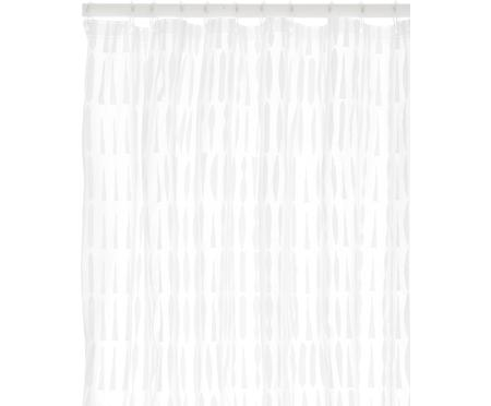 Duschvorhang Zora in Transparent/Weiß