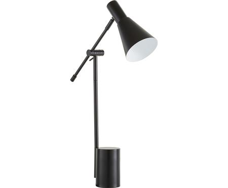 Lampe de bureau en métal noir Sia