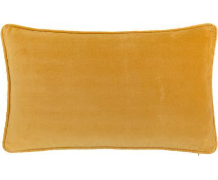 Federa arredo in velluto in giallo ocra Dana