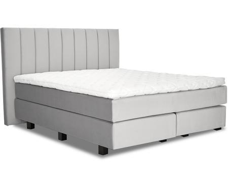 Łóżko kontynentalne z aksamitu premium Lacey