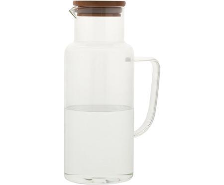 Glaskaraffe Jarro mit Bambusdeckel, 1 L