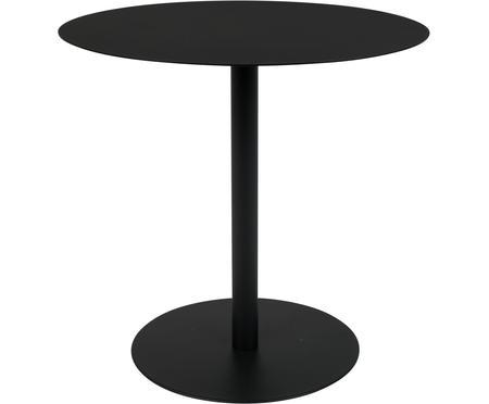 Tavolino rotondo in metallo nero Snow