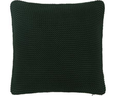Federa arredo fatta a maglia verde scuro Adalyn