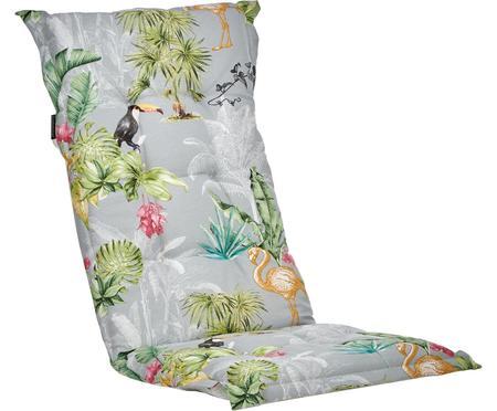 Hochlehner-Stuhlauflage Nona mit tropischem Print