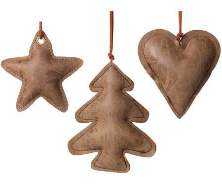 Set de adornos navideños de cuero Fade, 3pzas.