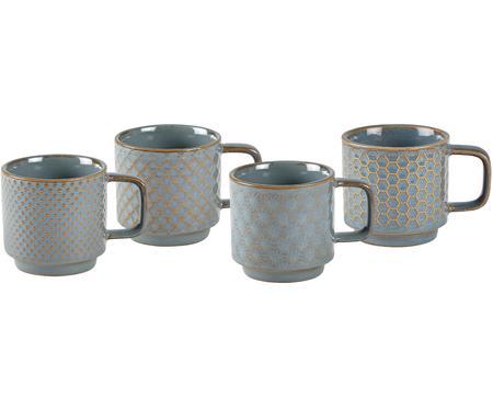 Service de tasses à espresso à motifs distincts Lara, 4 élém.