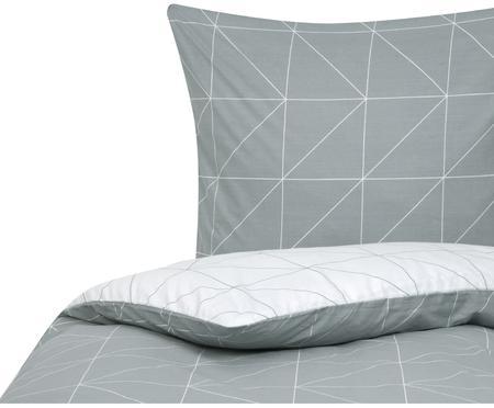 Baumwoll-Wendebettwäsche Marla mit grafischem Muster