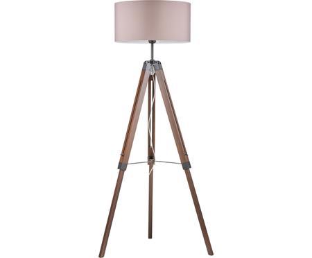 Tripod Stehlampe Josey aus Walnussholz
