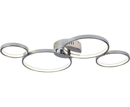 Plafonnier LED en métal chromé Solexa