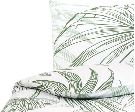 Baumwoll-Bettwäsche Alessa mit Blätterprint