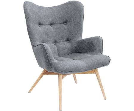 Fauteuil Vicky in grijs