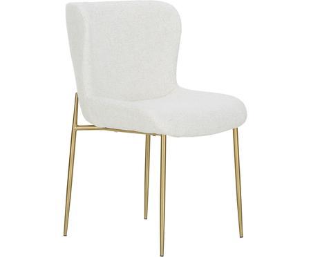 Chaise en tissu bouclé rembourrée Tess