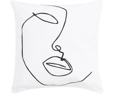 Kissenhülle Ariana mit abstrakter One Line Zeichnung