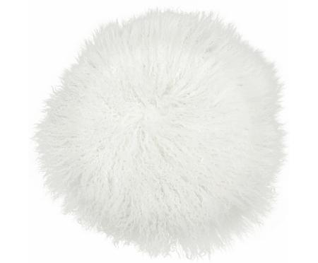 Cuscino sedia in pelliccia d'agnello a pelo lungo Ella, riccio