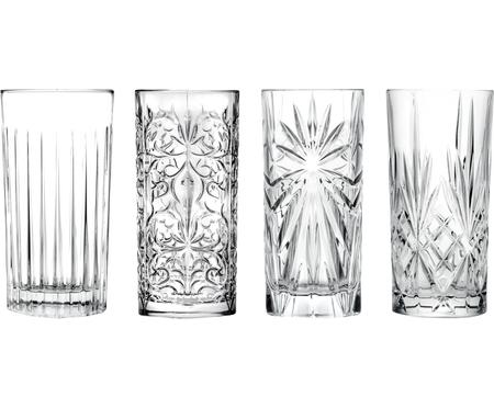 Bicchiere long drink in cristallo Bichiera 4 pz