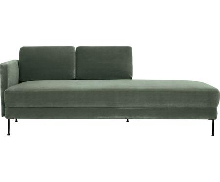 Chaise longue in velluto verde Fluente