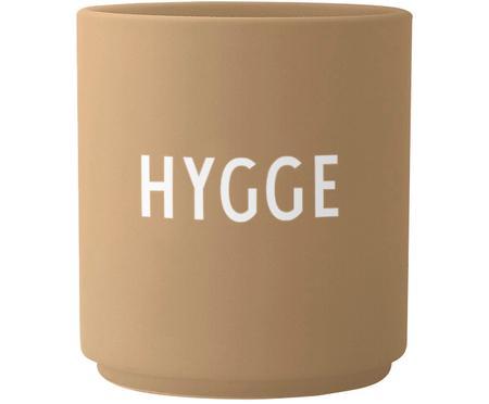 Design Becher Favourite HYGGE in Beige mit Schriftzug