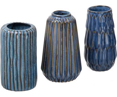 Kleines Vasen-Set Aquarel aus Porzellan, 3-tlg.