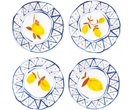 Brotteller-Set Lemon Moroccan, 4-tlg.