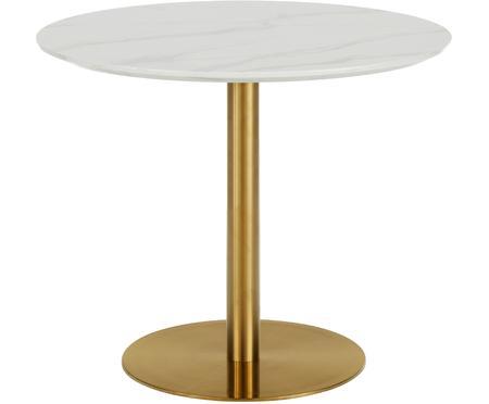 Okrągły stół do jadalni z imitacji marmuru Karla