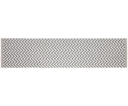 Dubbelzijdige in- & outdoor loper Palma, met zigzag patroon