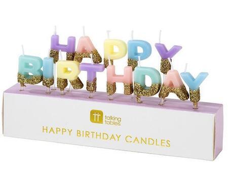 Velas de tarta Happy Birthday