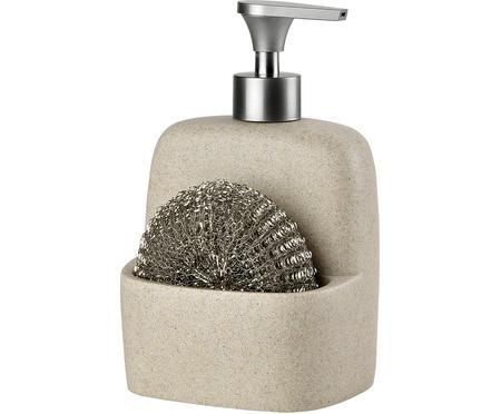 Komplet dozowników do mydła z gąbką Sand, 2 elem.