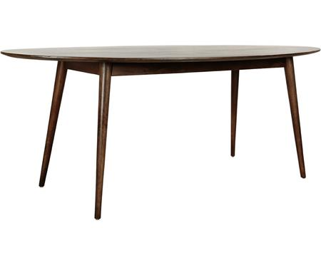 Mesa de comedor ovalada de madera maciza Oscar