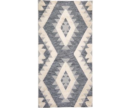 In- & Outdoor-Teppich Tiddas mit Hoch-Tief-Effekt in Grau-Creme