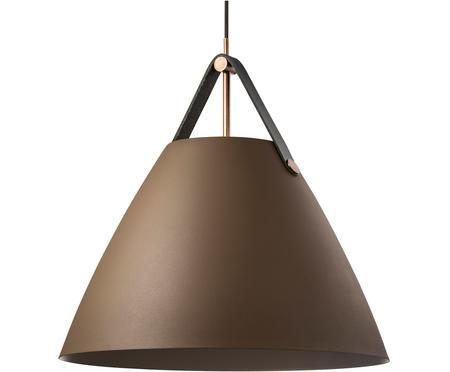 Lampa wisząca ze skórzanym paskiem Strap