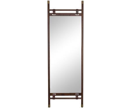 Specchio da terra con cinturini in pelle Riva