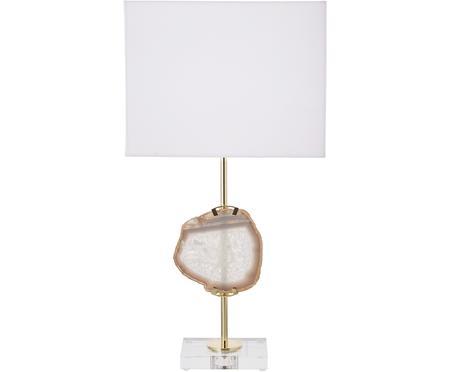 Lampa stołowa z dekoracja z agatu Treasure