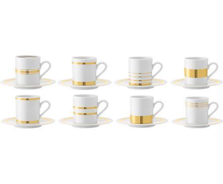 Tazzina caffè con piattino Deco, set di 8
