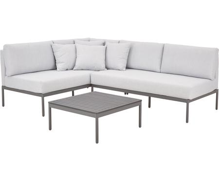Garten-Lounge-Set Linden, 2-tlg. in Hellgrau