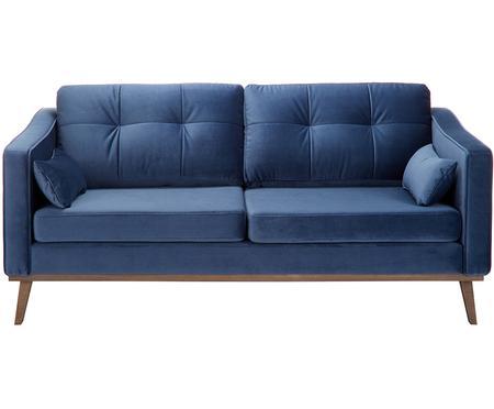 Divano 2 posti in velluto blu navy Alva