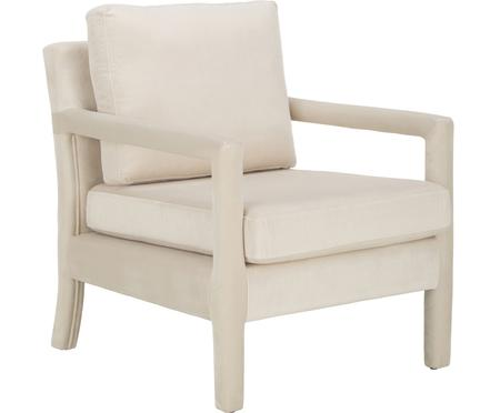 Samt-Sessel Claudette in Beige