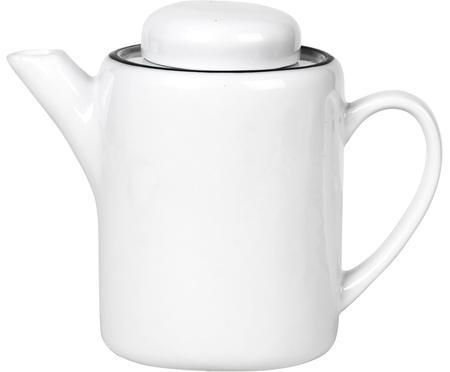 Handgemachte Teekanne Salt mit schwarzem Rand, 1.3 L