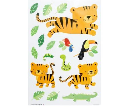Ensemble d'autocollants muraux Jungle Tiger, 17 élém.