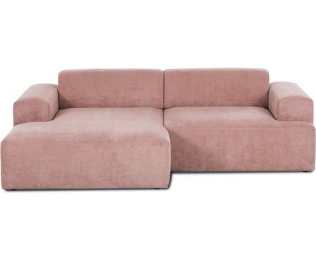 Sofa narożna ze sztruksu Marshmallow (3-osobowa)