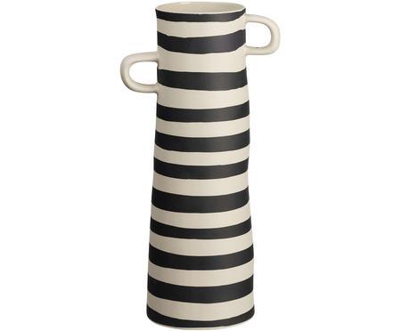 Handgefertigte Vase Rayu aus Steingut
