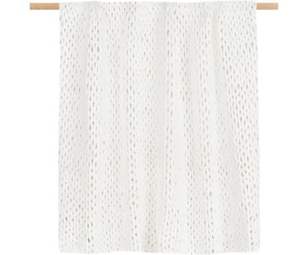 Grobes Strick-Plaid Adyna in Creme