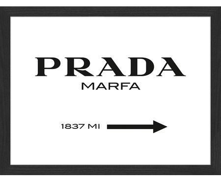 Ingelijste digitale print Prada Marfa
