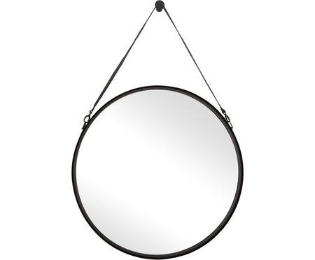 Specchio da parete con cinturino in pelle Liz