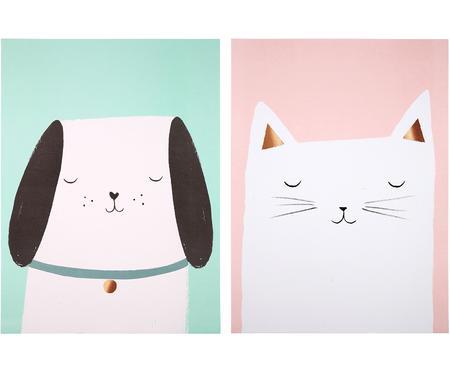 Set poster Cat & Dog, 2 pz.