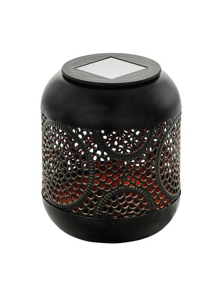 Lámpara de mesa solar para exterior Eniny, estilo boho, Lámpara: acero recubierto, Negro, Ø 12 x Al 13 cm