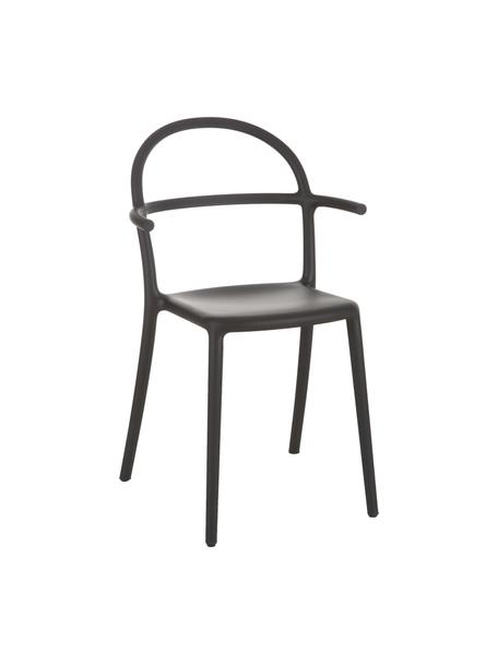 Schwarze Kunststoffstühle Generic, 2 Stück, Polypropylen, modifiziert, Schwarz, B 52 cm x T 51 cm