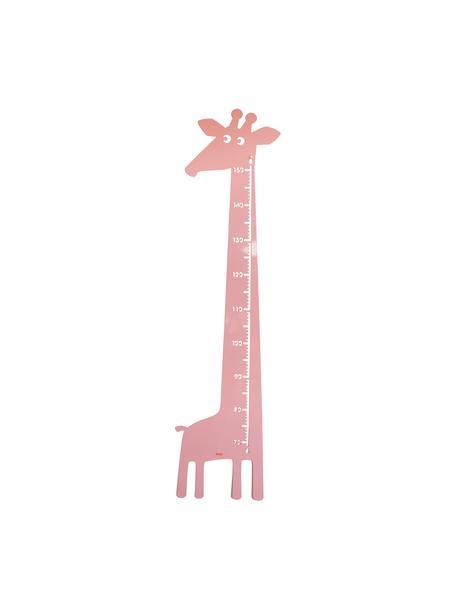 Medidor altura Giraffe, Metal con pintura en polvo, Rosa, An 28 x Al 115 cm