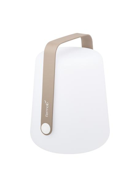 Mobile LED-Außenleuchte Balad, Lampenschirm: Polyethen, für den Außenb, Griff: Aluminium, lackiert, Muskatbraun, Ø 19 x H 25 cm
